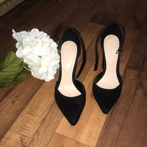 Black Aldo Block pointy toe heels pumps